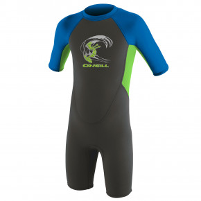 Go to the product Wetsuit O'Neill Toddler Reactor II Bz S/s Spr B. graphite/day glo/ocean 2019
