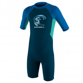 Go to the product Wetsuit O'Neill Toddler Reactor II Bz S/s Spr B. slate/light aqua/ocean 2019