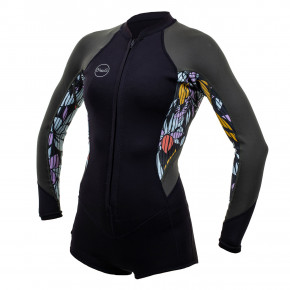 Go to the product Wetsuit O'Neill Wms Bahia Fz 2/1 L/s Short Sprin black/baylen/dark olive 2020