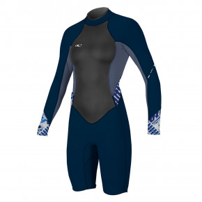 Go to the product Wetsuit O'Neill Wms Bahia Bz 2/1 L/s Spring navy/mist/indigo patch 2018