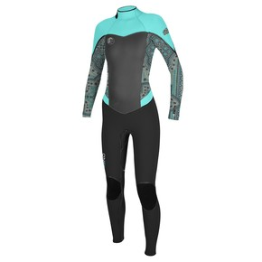 Go to the product Wetsuit O'Neill Wms Flair Z.e.n. 4/3 Zip Fsw black/maya/seaglass 2017