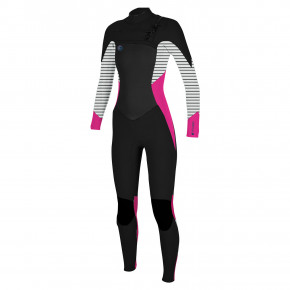 Go to the product Wetsuit O'Neill Wms O'riginal F.u.z.e. 4/3 black/punk pink/highway stripe 2018