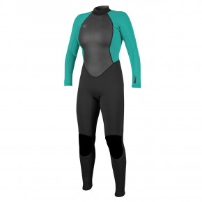 Go to the product Wetsuit O'Neill Wms Reactor II 3/2 Full black/light aqua 2020