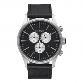 Go to the product Watch Nixon Sentry Chrono Leather black 2017