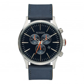 Go to the product Watch Nixon Sentry Chrono Leather blue/orange 2017