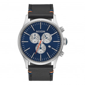 Go to the product Watch Nixon Sentry Chrono Leather blue sunray 2017