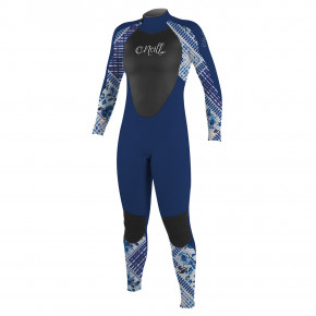Go to the product Wetsuit O'Neill Girls Epic 4/3 Back Zip Full navy/indy patch/navy 2018