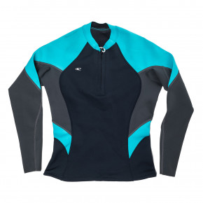 Przejść do produktu O'Neill Wms Bahia 1/0,5 Front-Zip Jacket slate/graphite/light aqua 2017