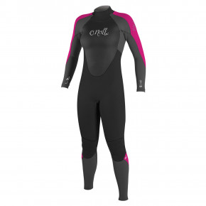 Go to the product Wetsuit O'Neill Wms Epic 4/3 Back Zip Full black/graphite/berry 2018