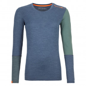 Prejsť na produkt Termobielizeň Ortovox Wms 185 Rock'n'wool Long Sleeve night blue blend 2020/2021
