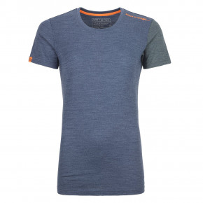 Go to the product Top Ortovox Wms 185 Rock'n'wool Short Sleeve night blue blend 2019/2020