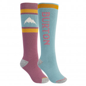 Go to the product Snow socks Burton Wms Weekend Midweight 2Pk rose brown/trellis 2020/2021