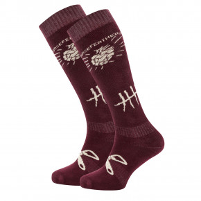 Go to the product Snow socks Horsefeathers Beerology burgundy 2018/2019