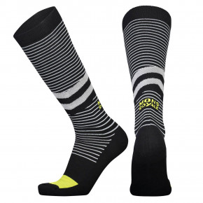 Go to the product Snow socks Mons Royale Lift Access Sock black/white stripe/citrus 2018/2019