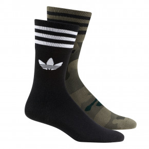 Go to the product Socks Adidas Trefoil Mid Cut Crew black/olive cargo 2020