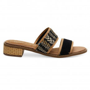 Go to the product Sandals Toms Mariposa black suede/geo woven 2019
