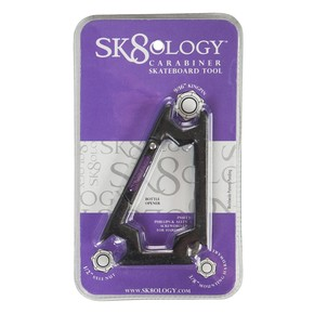 Go to the product Tool Sk8Ology Carabiner Skateboard Tool black/purple 2016