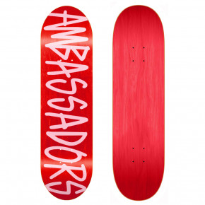 Go to the product Skate decks Ambassadors Medium Script-B Pink 8.25 2019
