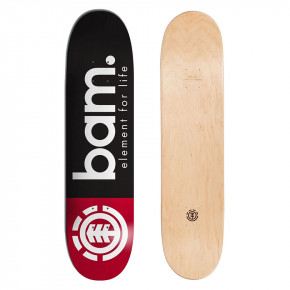 Go to the product Skate decks Element Bam black red 8.25 2018