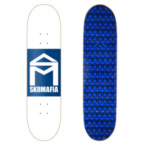 Go to the product Skate board Sk8Mafia House Logo wht double dip 8.25 2018