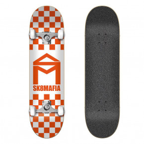 Go to the product Skateboard Sk8Mafia House Logo Checker Orange 8.0 2020