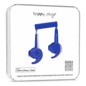 Go to the product Headphones Happy Plugs In-Ear Sport Mfi cobalt