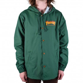 Go to the product Street jacket Thrasher Flame Logo Coach forest green 2020