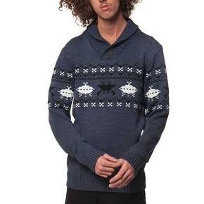 Go to the product Sweater Horsefeathers Hey Dude blue melange 2014/2015