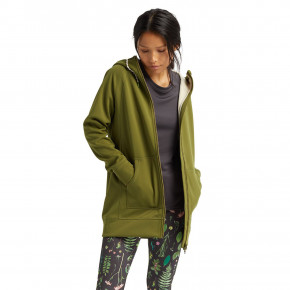 Go to the product Tech Hoodie Burton Wms Crown Bonded Long Fz pesto green 2020