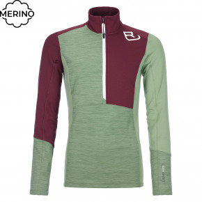 Przejść do produktu Bluza Ortovox Wms Fleece Light Zip Neck green forest blend 2020/2021
