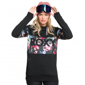 Go to the product Tech Hoodie Roxy Liberty Hoodie true black blooming party 2020/2021