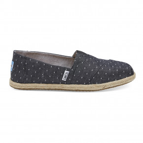Prejsť na produkt Slip-on Toms Alpargata Rope black dot chambray rope 2020