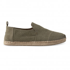 Prejsť na produkt Slip-on Toms Deconstructed Alpargata Rope olive washed canvas 2020