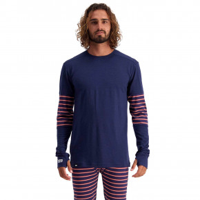 Go to the product First layer Mons Royale Alta Tech LS Crew navy/alpine stripe 2020/2021