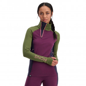 Go to the product First layer Mons Royale Wms Olympus 3.0 Half Zip blackberry/avocado 2020/2021