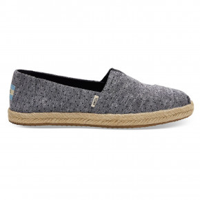 Go to the product Sneakers Toms Alpargata black tiny chambray 2019