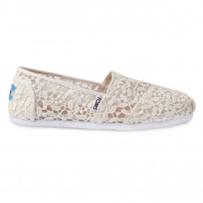 Go to the product Sneakers Toms Alpargata white lace leaves 2019