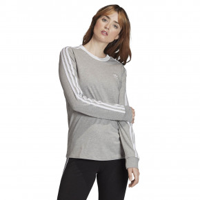 Přejít na produkt Tričko Adidas 3-Stripes Ls medium grey heather/white 2020