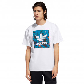 Go to the product T-shirt Adidas Print BB white/active orange/orange 2019