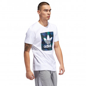 Go to the product T-shirt Adidas Towning BB Logo white/black/active blue/actv grn 2019