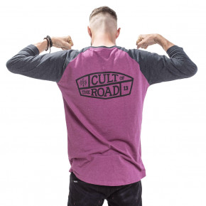 Go to the product T-shirt Cult Of The Road Gas Raglan maroon 2019