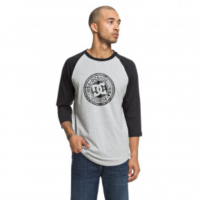 Go to the product T-shirt DC Research 3/4 Raglan black/grey heather 2018
