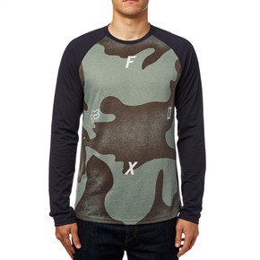 Prejsť na produkt Tričko Fox Conjoin Ls Tech Raglan heather dark fatigue 2017