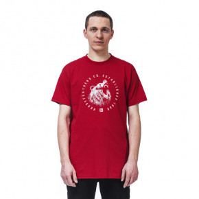 Go to the product T-shirt Horsefeathers Bruin lava red 2020