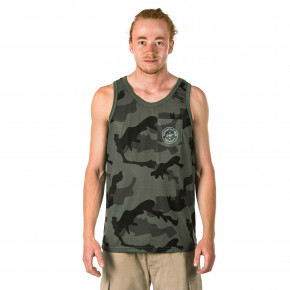 Go to the product T-shirt Horsefeathers Five Tank olive camo 2018