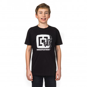 Go to the product T-shirt Horsefeathers Hftv Kids black 2018