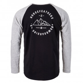 Go to the product T-shirt Horsefeathers Peaks Ls black 2019/2020