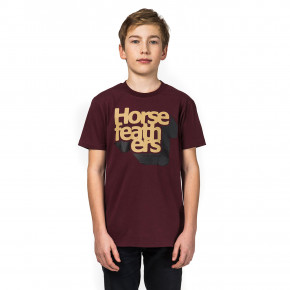 Go to the product T-shirt Horsefeathers Perspective Kids burgundy 2018