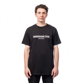 Go to the product T-shirt Horsefeathers Snowboarding Sucks black 2019/2020