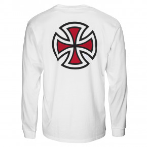 Go to the product T-shirt Independent Bar Cross L/s white 2020